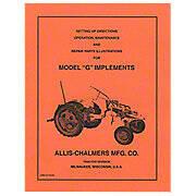Setup, Maintenance & Repair Manual: AC G Implements