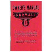 Operator Manual: Farmall B
