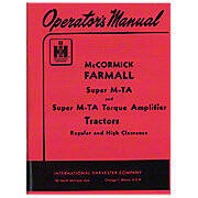 Operators Manual: Farmall Super MTA Gas