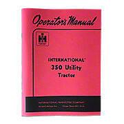 Operators Manual: IH 350 Utility (Gas / Lp)