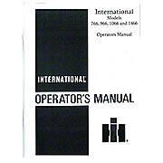 Operators Manual: IH 766, 966, 1066, 1466