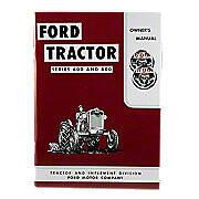 Operator Manual Reprint: Ford 600 & 800 Series