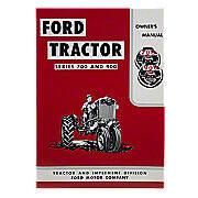 Operator Manual Reprint: Ford 700 & 900 Series