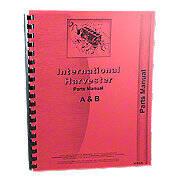 International Harvester Farmall A, AV, Super A Culti-Vision, B, BN Tractors, Parts Manual