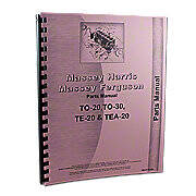 Massey Ferguson TO20 Parts Manual