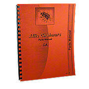 Allis Chalmers CA Parts Manual Reprint