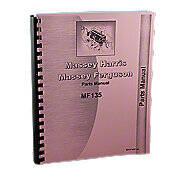 Massey Ferguson 135 Gas And Diesel Parts Manual