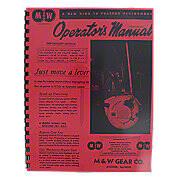 M & W Hand Clutch Reprint Operators Manual & Parts List
