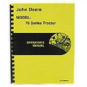 Operators Manual Reprint: JD 70 Gas