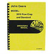 Operators Manual Reprint: JD 3010 Rowcrop & Standard, Gas & Diesel