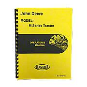 Operators Manual Reprint: JD M only