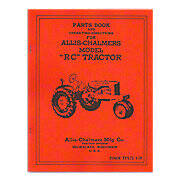 Parts and Operators Manual Reprint: Allis Chalmers RC