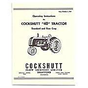 Operators Manual Reprint: Cockshutt 40